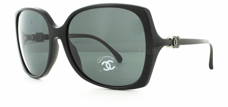 788f6e947b497 Chanel 5216 C501 3F Black Grey Sunglasses  Amazon.co.uk  Clothing