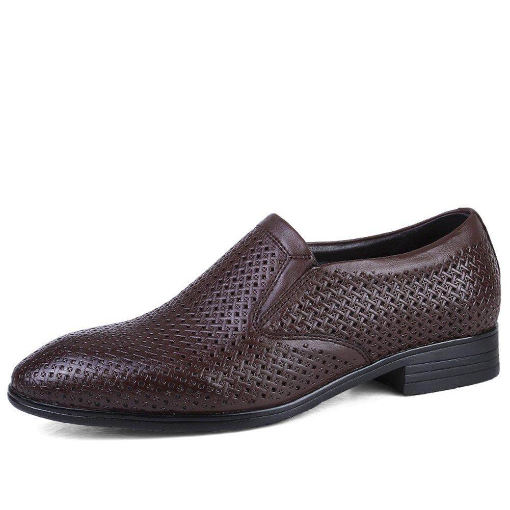 ailishabroy Plain Herren Derby Schluuml;pfen Atmungsaktiv Schuhe Herren Sommer Schwarz Business Mokassins  38 EU|Dunkelbraun