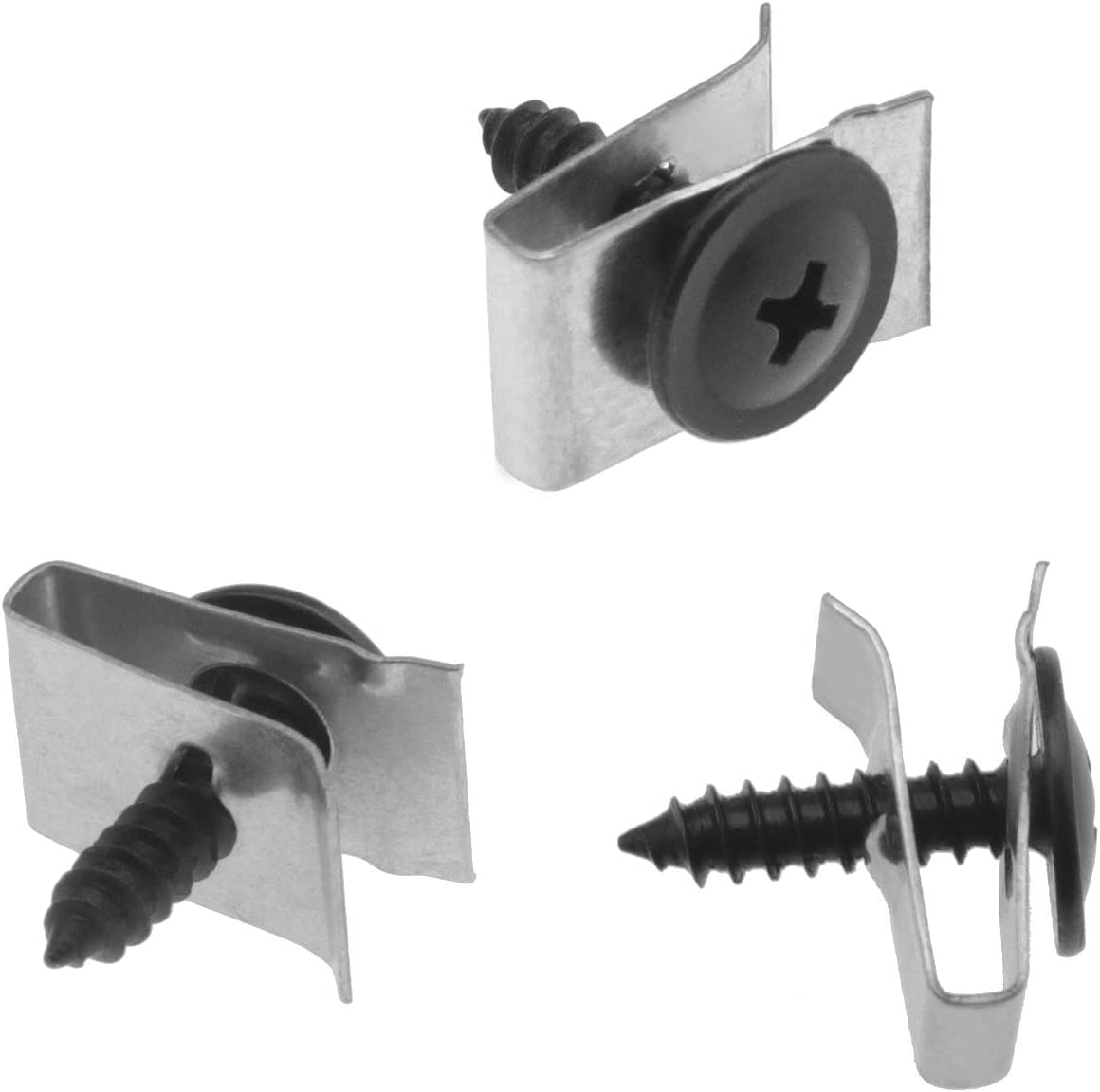 for Wheel Arch Cover Undertray Fender N90775001 20Pcs Screw and Nut Clip Kit