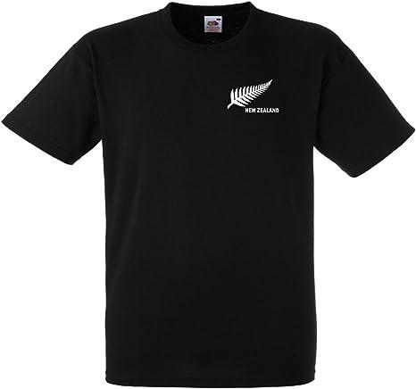 Invicta Screen Printers Camiseta de Nueva Zelanda Rugby Fútbol/Fútbol Nacional/Equipo de Cricket: Amazon.es: Ropa y accesorios