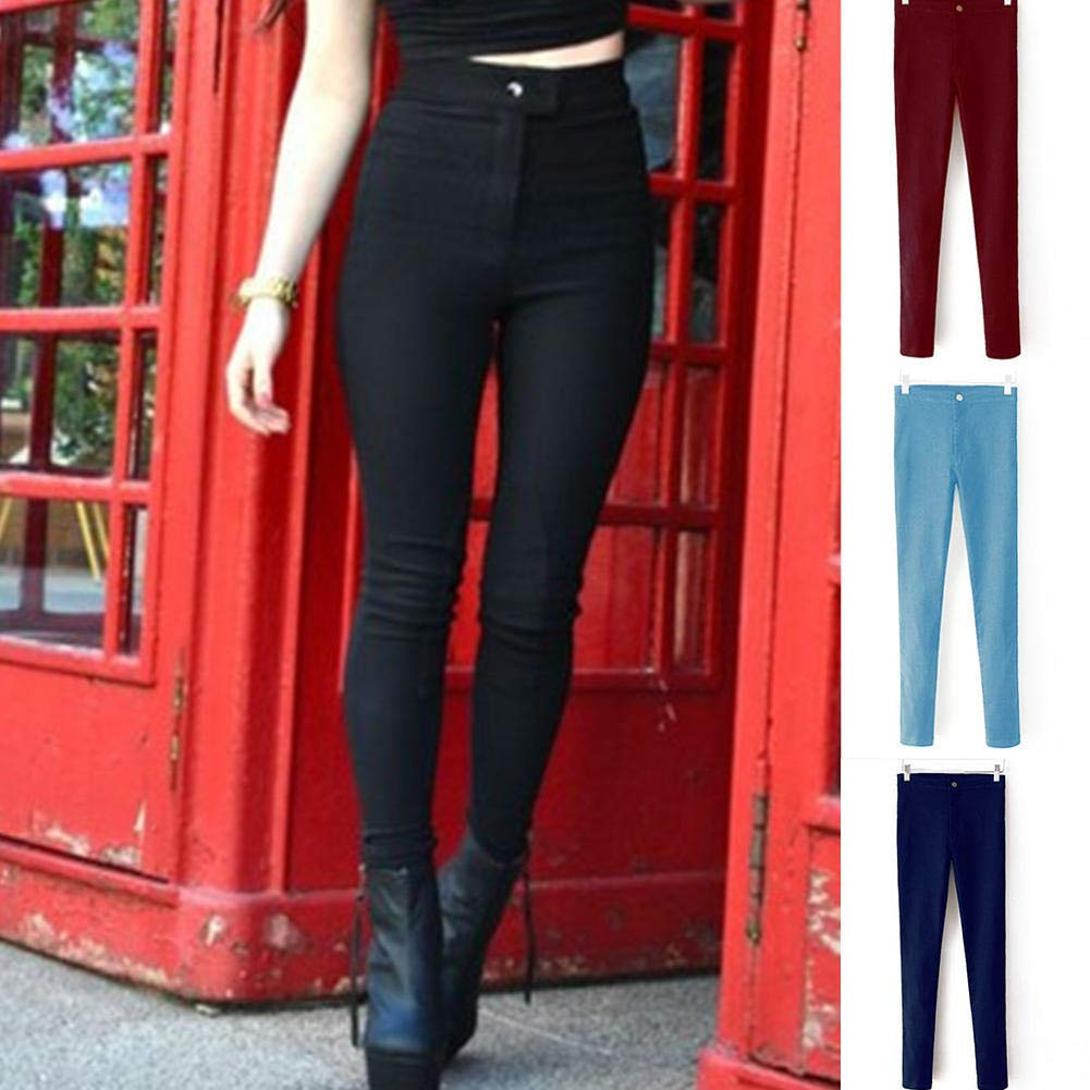 Color : Black, Size : XL YIGEYI Celebrity Women Stretch Skinny Jeans Pantalones Vaqueros Elastic Denim High Waist Hip-Lifting Pants The Perfect one for You