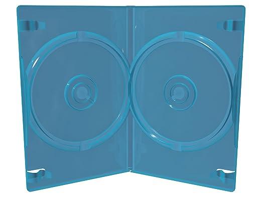 11 opinioni per 50 custodie blu ray BD-R doppie a 2 posti spessore 11mm slim con tasca