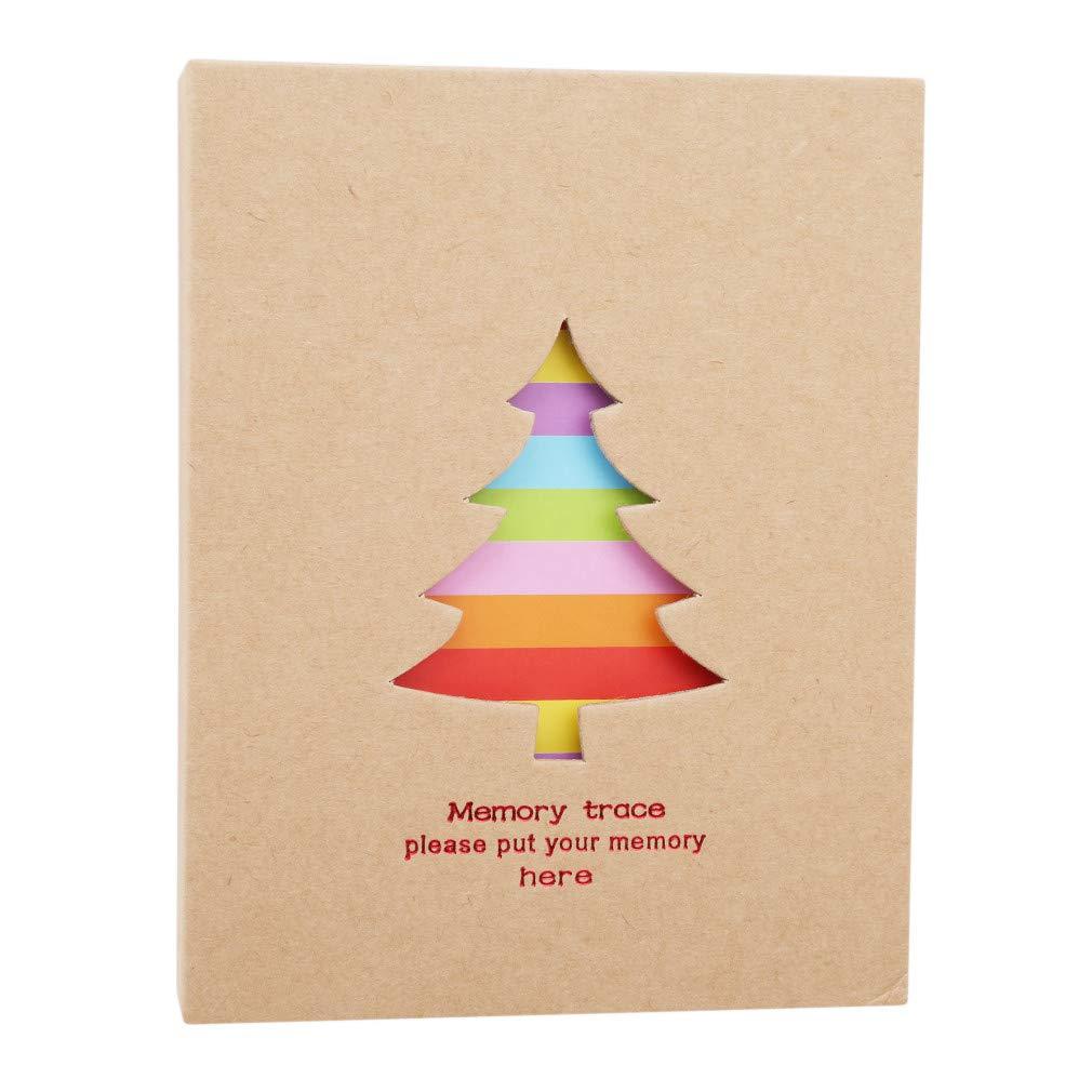 100 Pages 50 Feuilles avec Encoche pour Insertion de la Photo Hengsong Couleur Album-Photo Fine Art pour Enfants Arbre de Noel 13.5 * 4.5 * 18cm