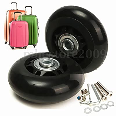ABBOTT OD. 84 mm Wide 24 mm Axle 35 mm Luggage Suitcase/Inline Outdoor Skate Replacement Wheels with ABEC 608zz Bearings : Sports & Outdoors