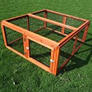 4 Sided Outdoor Weatherproof hardened Spruce Run Collapsible for Rabbits Guinea Pigs