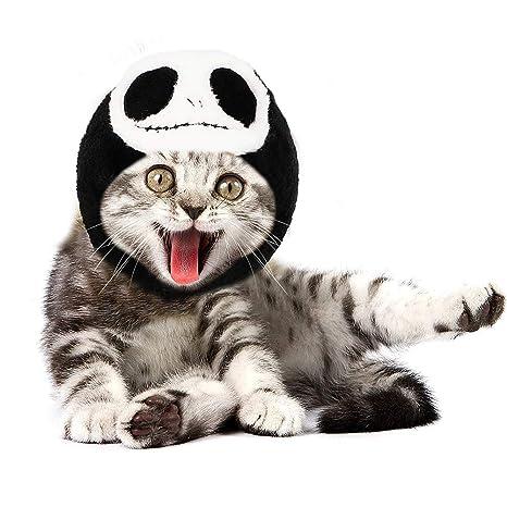 LlorenteRM Disfraz de Cosplay para mascotas Sombrero de calavera para gatos Sombrero de gorra para perro