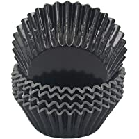 Mombake Standard Black Foil Cupcake Liners Muffin Baking Cups for Party and More, 100-Count