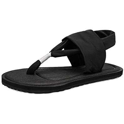 4a53dfcd8fdb PINGYE Yoga Sling 2 Flip Flop for Women YJS398-Black-36