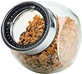 Glass Food Storage Container - Kitchen Storage Jar for Food, Candy, Pet Food, Cookies, Dry Food Storage, Money Saving and More with Dated Screw on Lid - 58oz