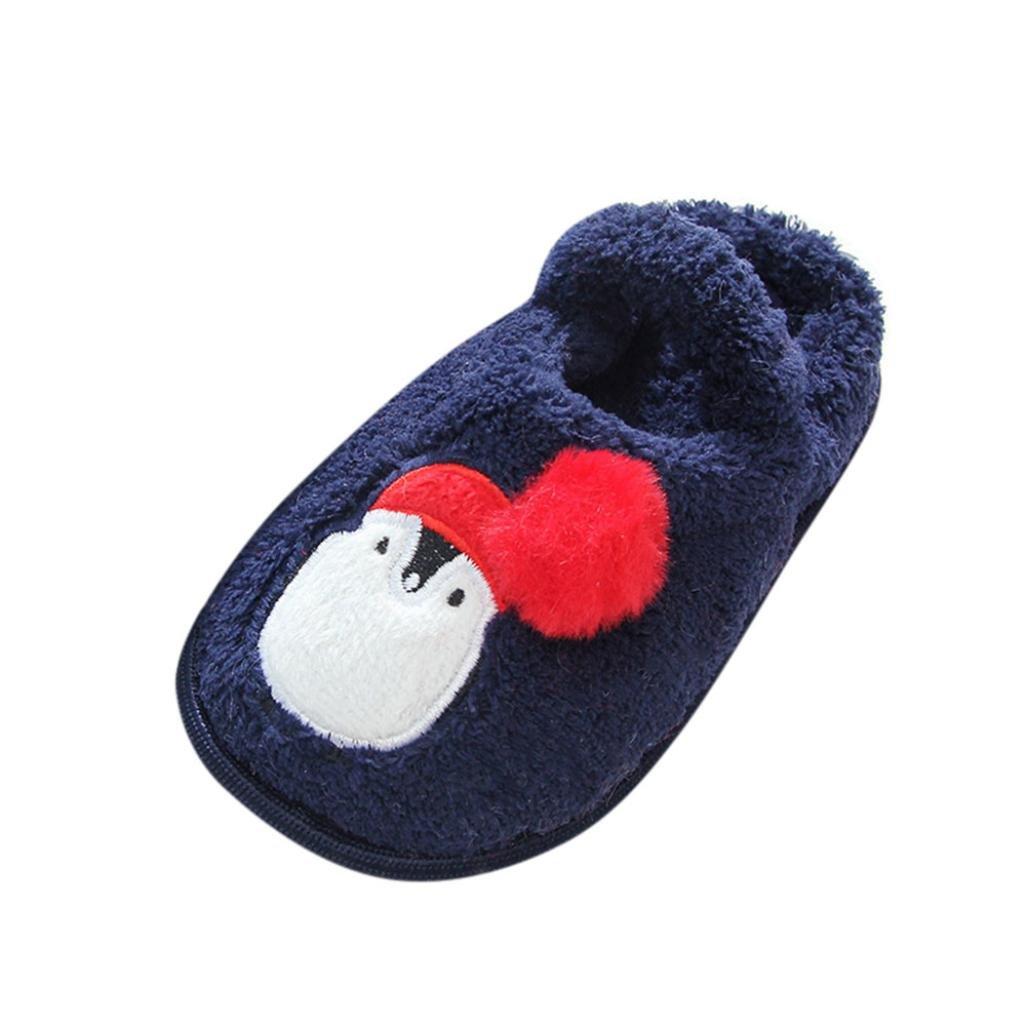 zapatos princesa niñas invierno, Sannysis Zapatilla de casa Calzado para niños pequeños bebé niña niño zapatillas de algodón suave bebe dress up zapatos de seguridad