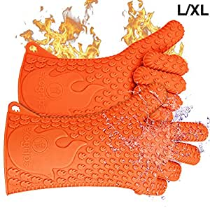Ekogrips BBQ Oven Gloves   Best Versatile Heat Resistant Grill Gloves   Lifetime Replacement   Insulated Silicone Oven Mitts For Grilling   Waterproof   Full Finger, Hand, Wrist Protection   3 Sizes