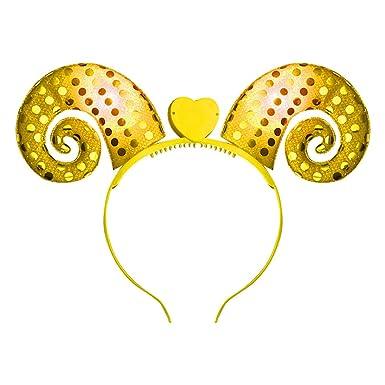 VRTUR Haarreif LED Licht Damen Mädchen Herren Geburtstag Party Stirnband Haarschmuck Karneval Geschenk