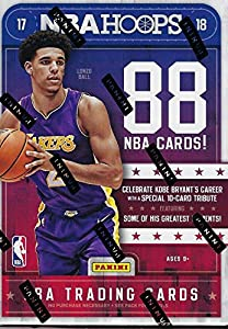 2017 2018 Hoops NBA Basketball Box with One GUARANTEED AUTOGRAPH or MEMORABILIA Card Per Unopened Blaster Box of Packs Possible Rookies and Stars