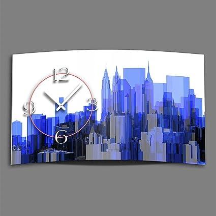 Digital – Tipo Skyline – Reloj de pared moderno Relojes de Pared Diseño Silencioso sin tic