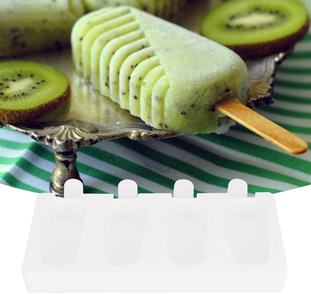 Stampi per gelato in silicone a 4 griglie Set stampi per ghiaccioli fatti in casa rettangolari antiaderenti e facili da smontare atossici inodori. sicuri