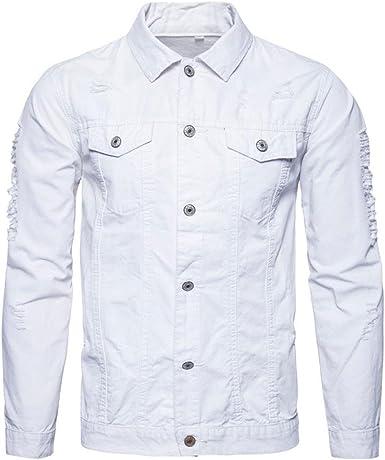 Camisa Vaquera Hombre Slim fit Vintage Camisas Manga Larga Nuevo: Amazon.es: Ropa y accesorios