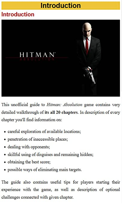Amazon Com Guide For Hitman Absolution Appstore For Android