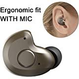 Bluetooth Headset, AngLink 0.13oz Only V4.1 Mini Bluetooth Earpiece Wireless Earpiece In-ear Mini Bluetooth Earbuds with Microphone Mic Hands-free for iPhone Samsung and Other Smartphones (Brown)