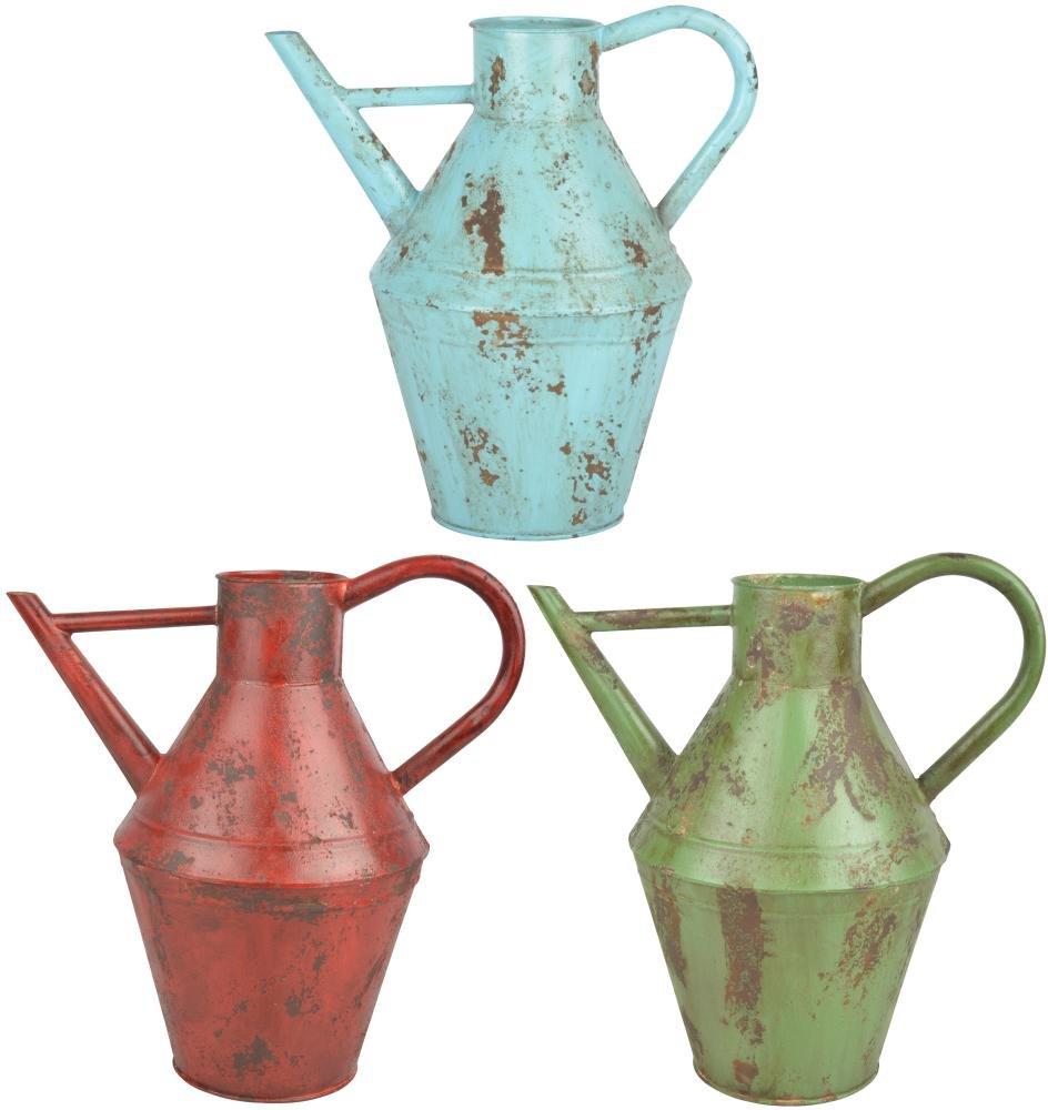 Esschert Design Vintage Gießkanne, ca. 4,7 l, Größe S, Used-Look, Farbig Sortiert, verzinkter Stahl, 30,9 x 20,3 x 33,8 cm, Gartenwerkzeug Größe S tg238