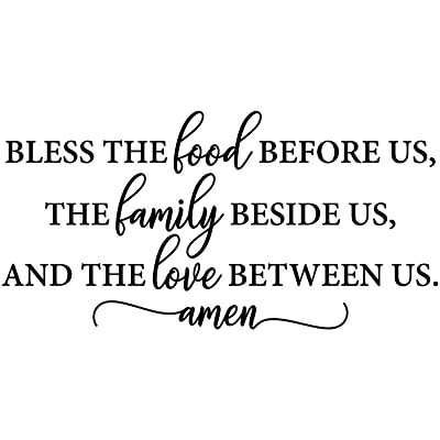 Buy My Vinyl Story Bible Quotes Wall Decals Religious Inspirational Living Room Decor Stickers Art Decorations Christian Verse Jesus Faith Home Gift Bless The Food Before Us Online In