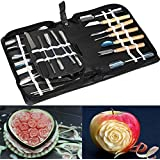 Culinary Carving Tool Set Fruit Vegetable Food Garnishing / Cutting / Slicing Garnish Tools Kit (46 pcs)