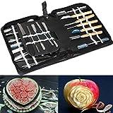 Culinary Carving Tool Set Fruit Vegetable Food Garnishing / Cutting / Slicing Garnish Tools Kit (46 pcs)