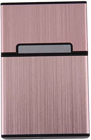 LUFA Caja de cigarrillos de aluminio ligero Caja de cigarrillos Porta-tabaco Contenedor de almacenamiento Accesorios de fumar: Amazon.es: Hogar