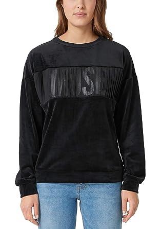 a342fbe04bf4 Q S Designed by Damen Nicki-Sweatshirt mit Wording  Q S designed by  Amazon. de  Bekleidung