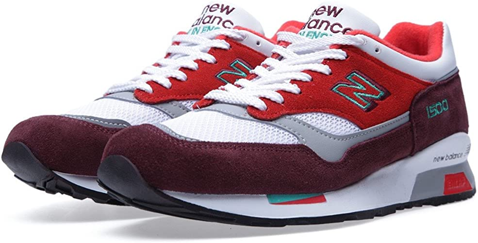 New Balance 1500 ''Made in England'' Burgundy, Red & Teal Trainers ...