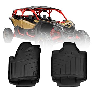 2017 Can Am >> X3 Floor Mats Liners For Can Am Maverick X3 Xrs Xds Turbo R 2017 2018 2019 Black Front Row Tpe Floor Mat Guard