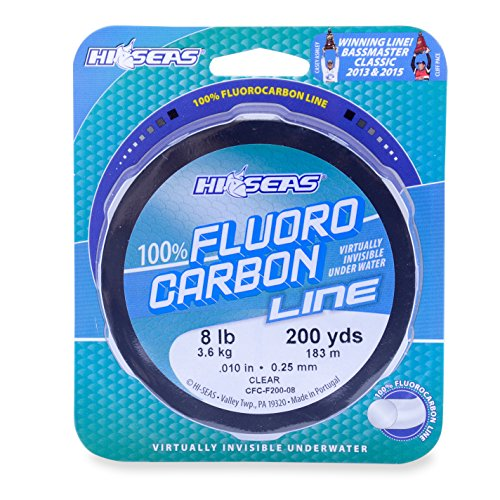 Cheap Hi-Seas 100% Fluorocarbon Line, Clear, 6 Pound Test, 200-Yard
