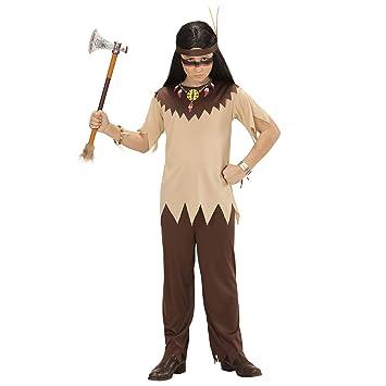 WIDMANN- Disfraz Infantil de Indio, Color marrón, 140 (07217 ...