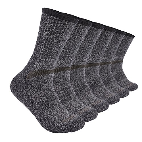 YingDi Mens Winter Australian Merino Wool Cushion Hiking Crew Socks - Pack of 3 pairs