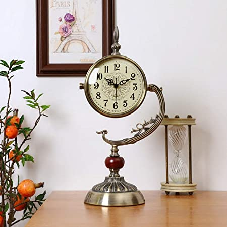 Reloj de mesa de escritorio, relojes de repisa silenciosos Metal ...