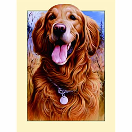 FAIRYLOVE 35/×45 Diamond Painting Dog Diamond Dotz Kit Diamond Art Kits for Adults,Golden Retriever Dog