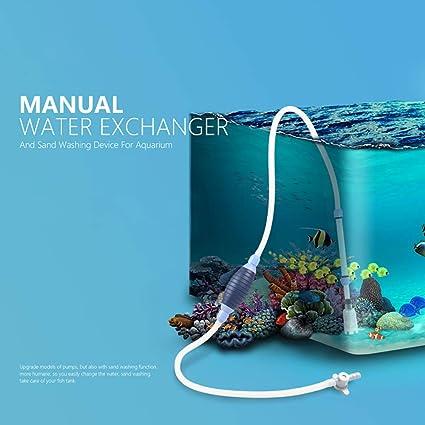 Akelizeng Bomba de Limpieza para Acuario, Cambiador Manual de Agua ...