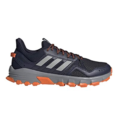 adidas Running Mens Rockadia Trail Legend Ink/Grey Two/Orange 6.5 ...