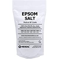 EPSOM SALT | 1KG PREMIUM POUCH | 100% Medical | FCC Food Grade | Magnesium Sulphate