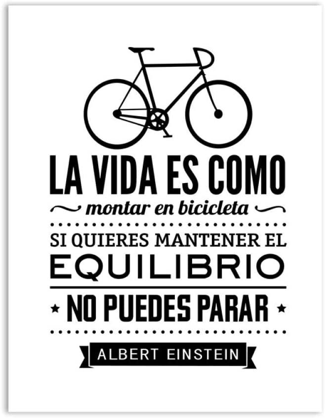 WXZhome Spanish Bicycle Wall Art Impresiones en Lienzo Poster Life ...