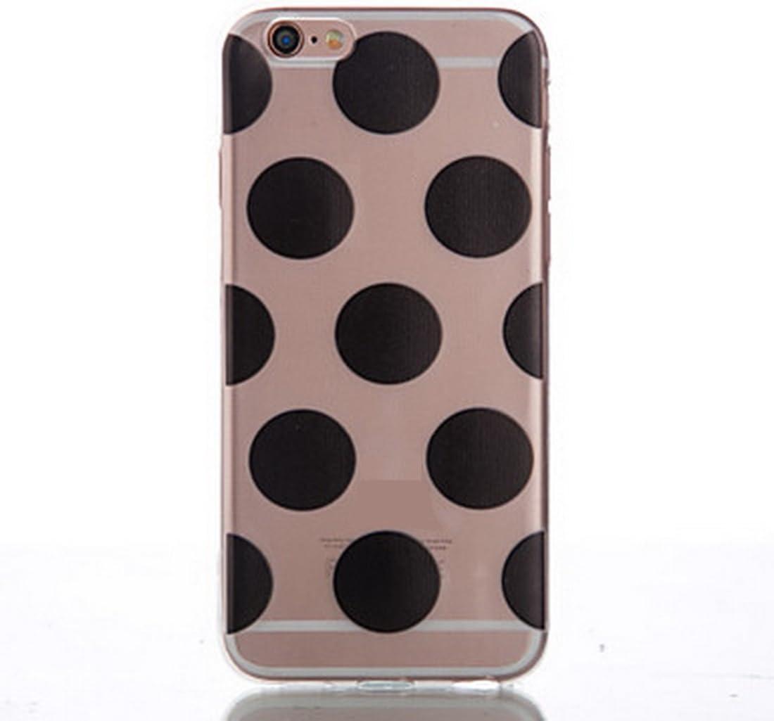 4,7 SecondDromi Cute Many Wave Dot Patterns Silicone Funda para iPhone 7 ,Blanco