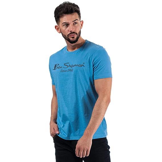 Ben Sherman - Camiseta de Manga Corta para Hombre, diseño con el ...