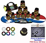 Speed Stacks Combo Set ''The Works'': 12 BLACK FLAME 4'' Cups, Atomic Punch Gen 3 Mat, G4 Pro Timer, Cup Keeper, Stem, Gear Bag + Active Energy Necklace