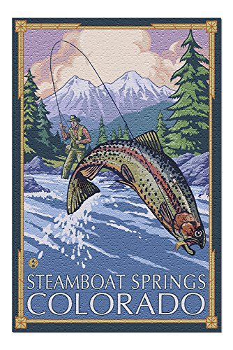 Steamboat Springs, Colorado - Fisherman (20x30 Premium 1000 Piece Jigsaw Puzzle, Made in USA!)