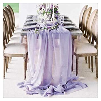 Amazon Light Purple 27 X 120 Inches Long Soft Table Runner For