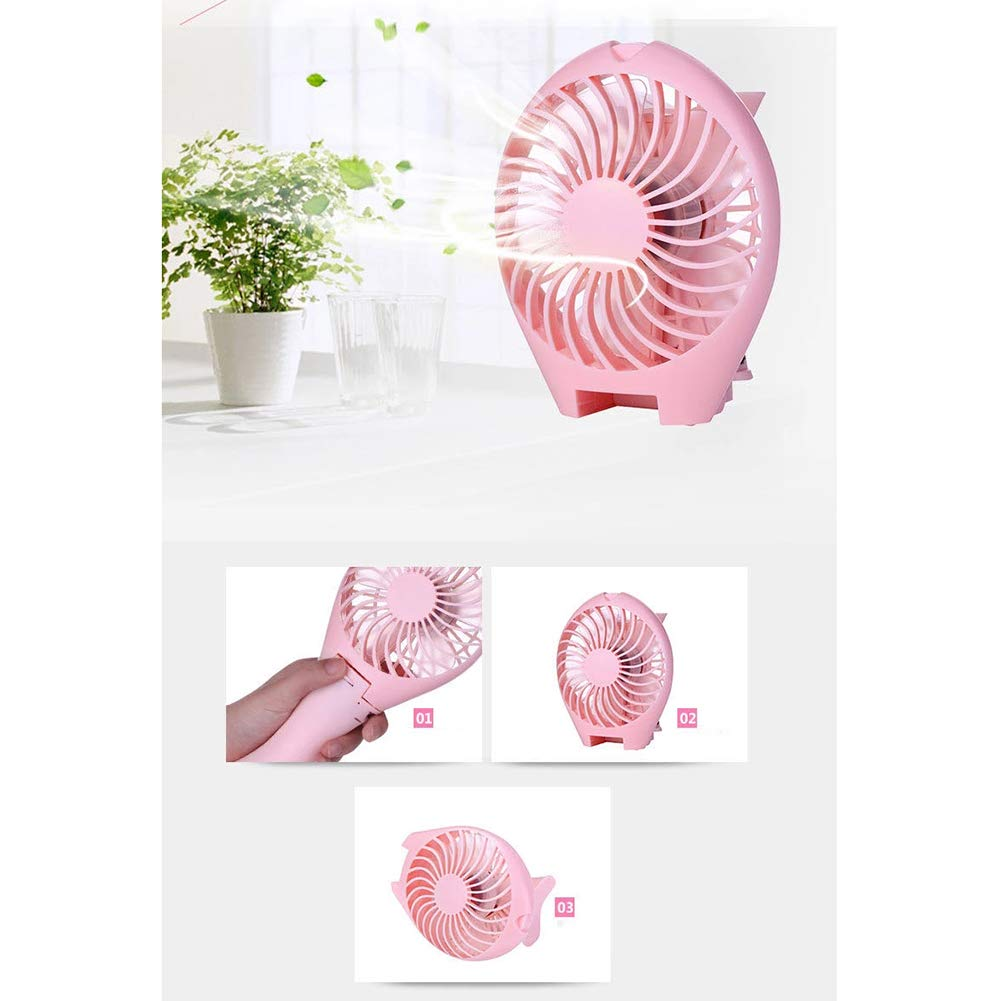 Sir/èNe Ventilateur Rechargeable Portable Ventilateur De Bureau Pliable Ventilateur De Poche,Blue FACAI USB Mini Ventilateur De Poche
