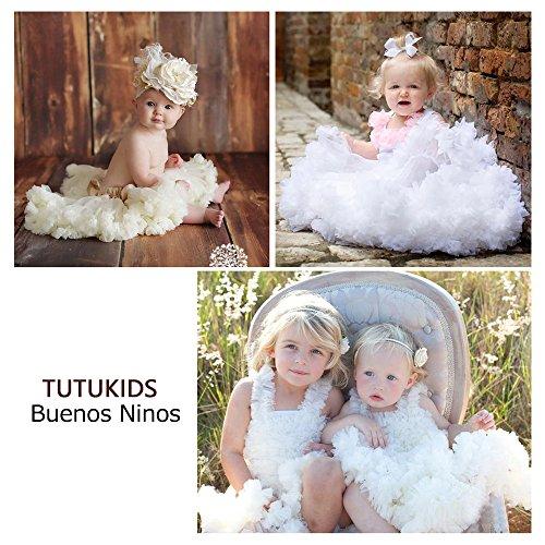 Buenos Ninos Girl's Solid Color Dance Tutu Pettiskirt White 7-8T/110 by Buenos Ninos (Image #3)