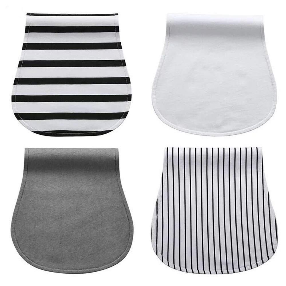 K002 Burping Rags for Newborns,Organic Cotton,Baby Shower Gift for Boys and Girls Baby Burp Cloths Set Baby Burp Bibs 4-Pack Feeding Nursing Towel Accessory