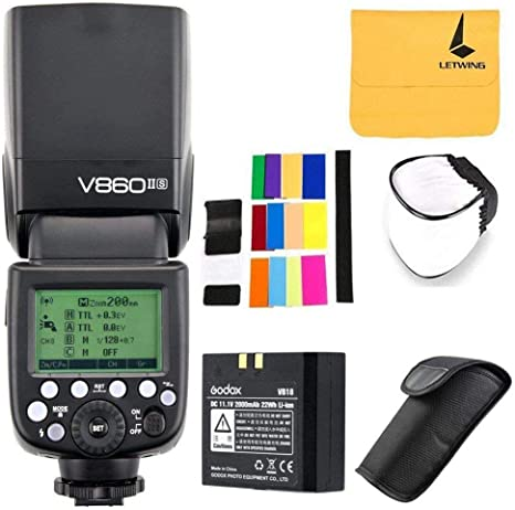 Godox Ving V860II-S 2.4G TTL Li-on Batería Cámara Flash Speedlite ...