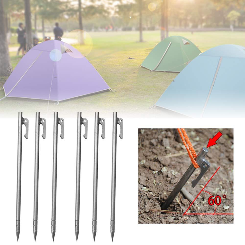 MYGYSJK 8//6//1 pi/èce 8 x 240 mm en Alliage de Titane r/ésistant pour Tente de Camping