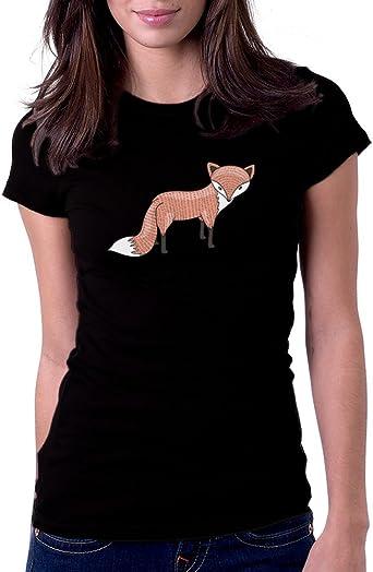 Fox Womens Shirts Graphic Tee Woodland Animals Cute Fox Gift for Women